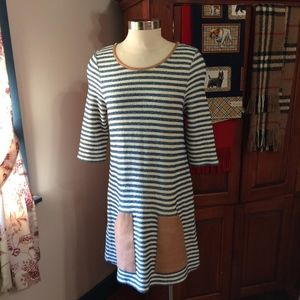 Athropologie Post Stamp Sapony Tunic Stripe Top L